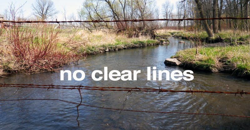 no clear lines