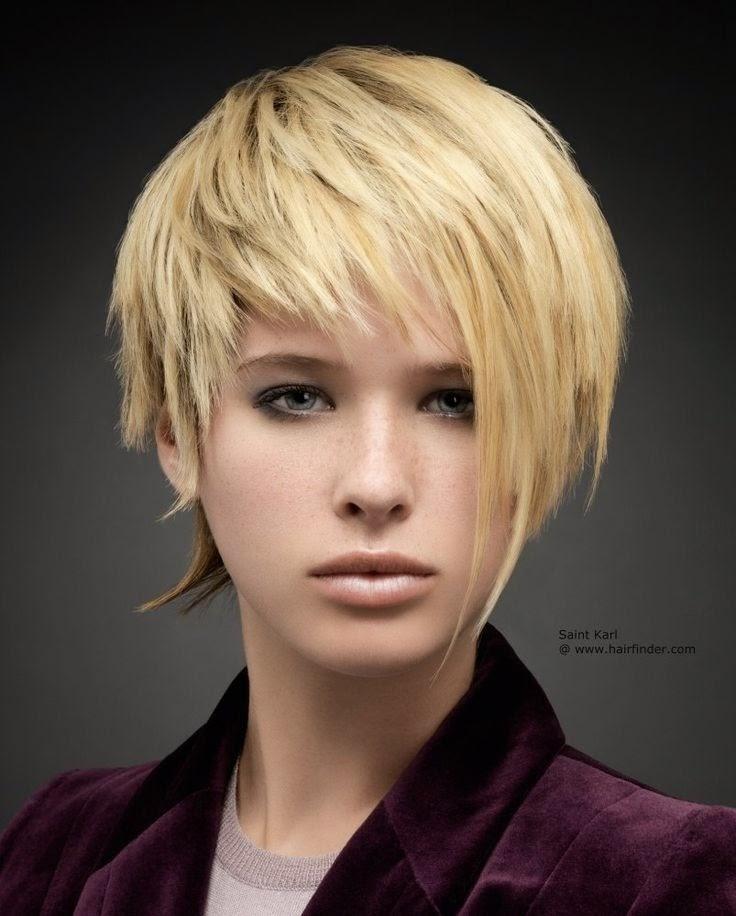 Cortes asimetricos de cabello corto