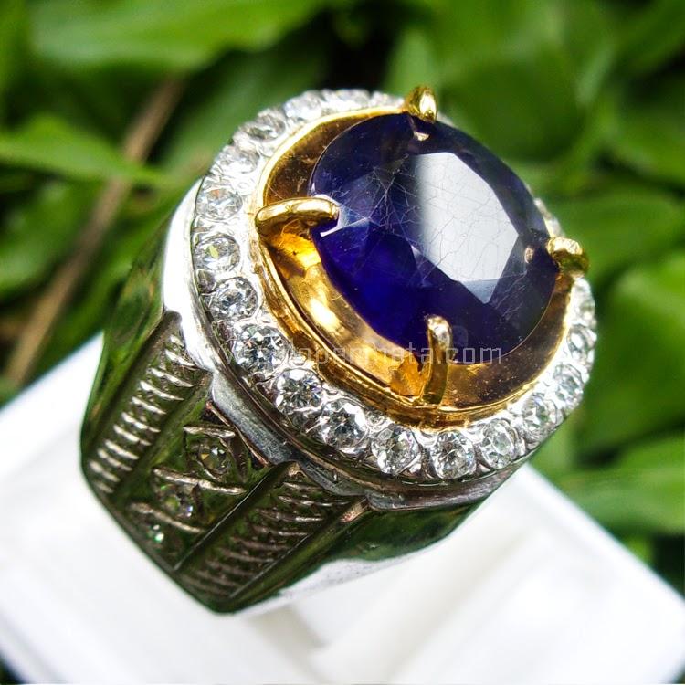 Cincin Batu Permata Blue Sapphire - SP515