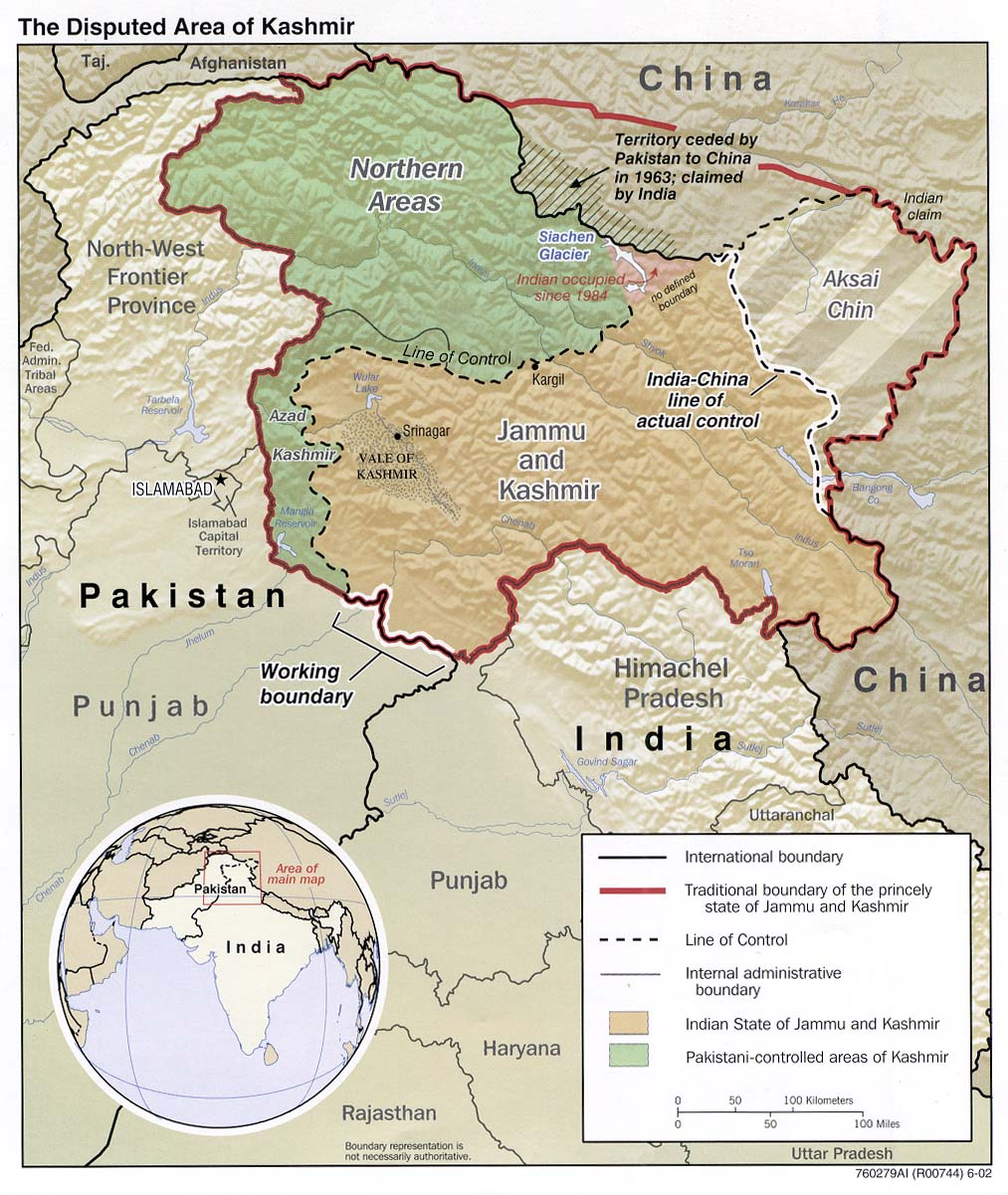 the current map of jammu and kashmir