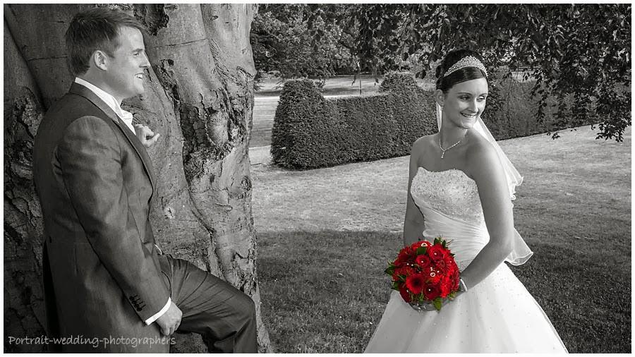 wedding photography - spot colour