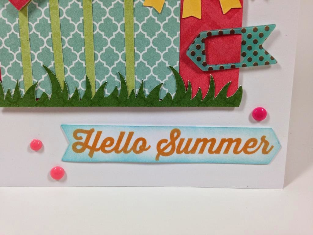 Cricut Artbooking Hello Summer Card closeup