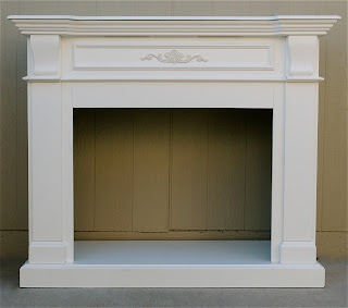 Shabby Chic Fireplace Mantle