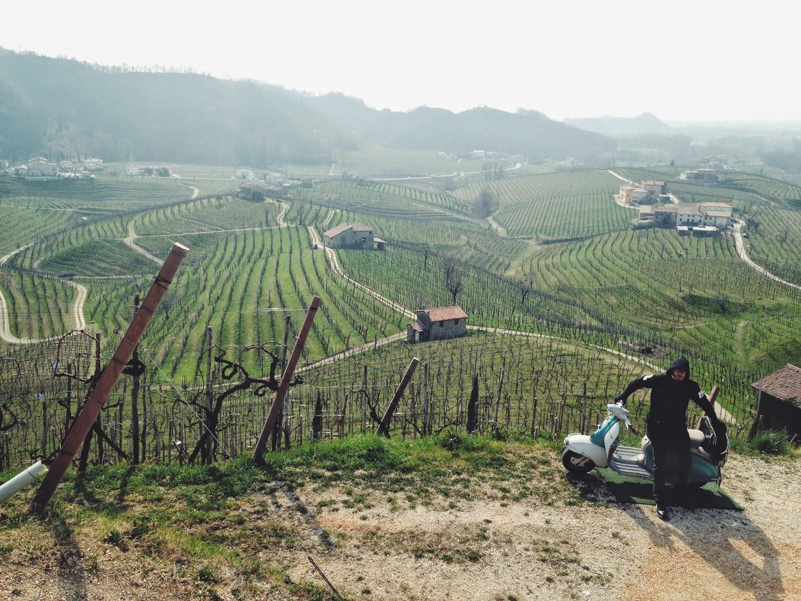 i diari della lambretta - Cartizze vineyards in Valdobbiadene