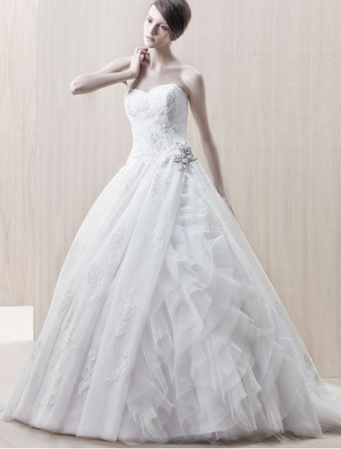 Beautiful Ruffled Style Wedding Dress