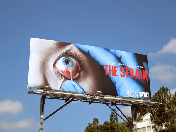 The Strain series launch billboard