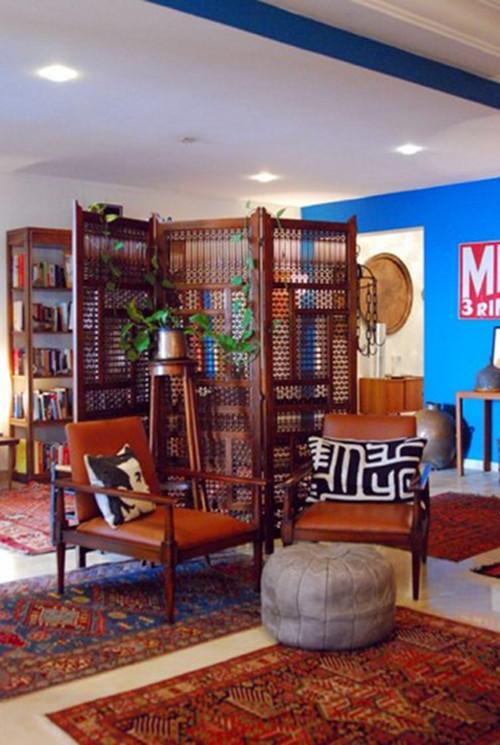 blaue Wand - ein Statement im Zimmer