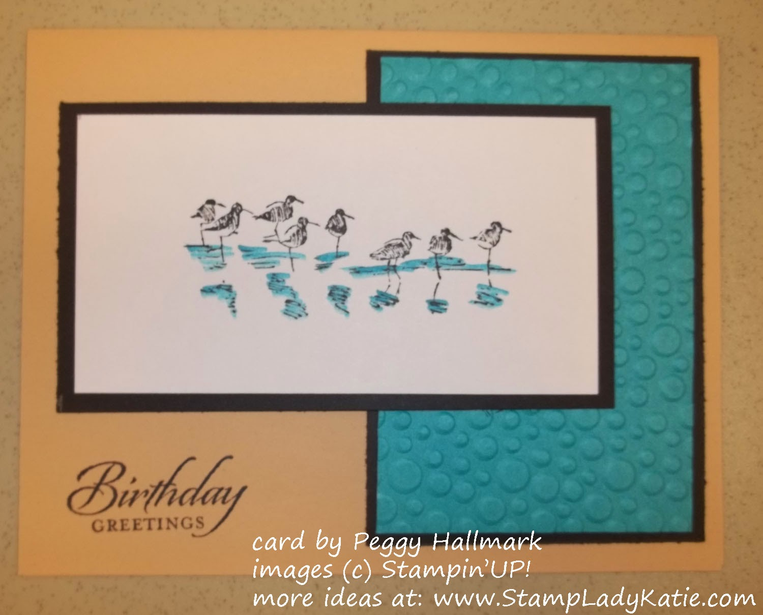 Card made with Stampin'UP!'s Wetlands stamp set.