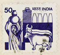 leite vaca selo postal india