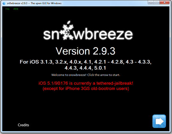 For Jailbreak iOS 5.1 SnOwbreeze Updated v2.9.3 Direct Downloading Link Available