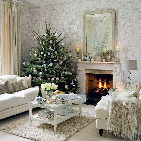 Hd wallpapers christmas living room decorating ideas for Xmas room design
