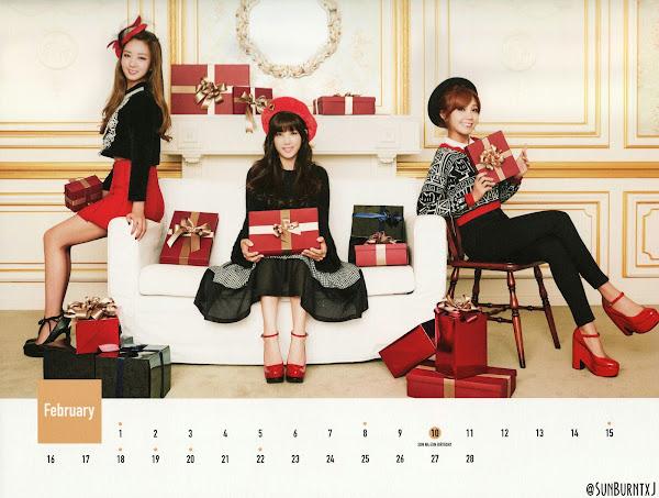 Apink calendar 2015 scans Bomi Chorong Eunji