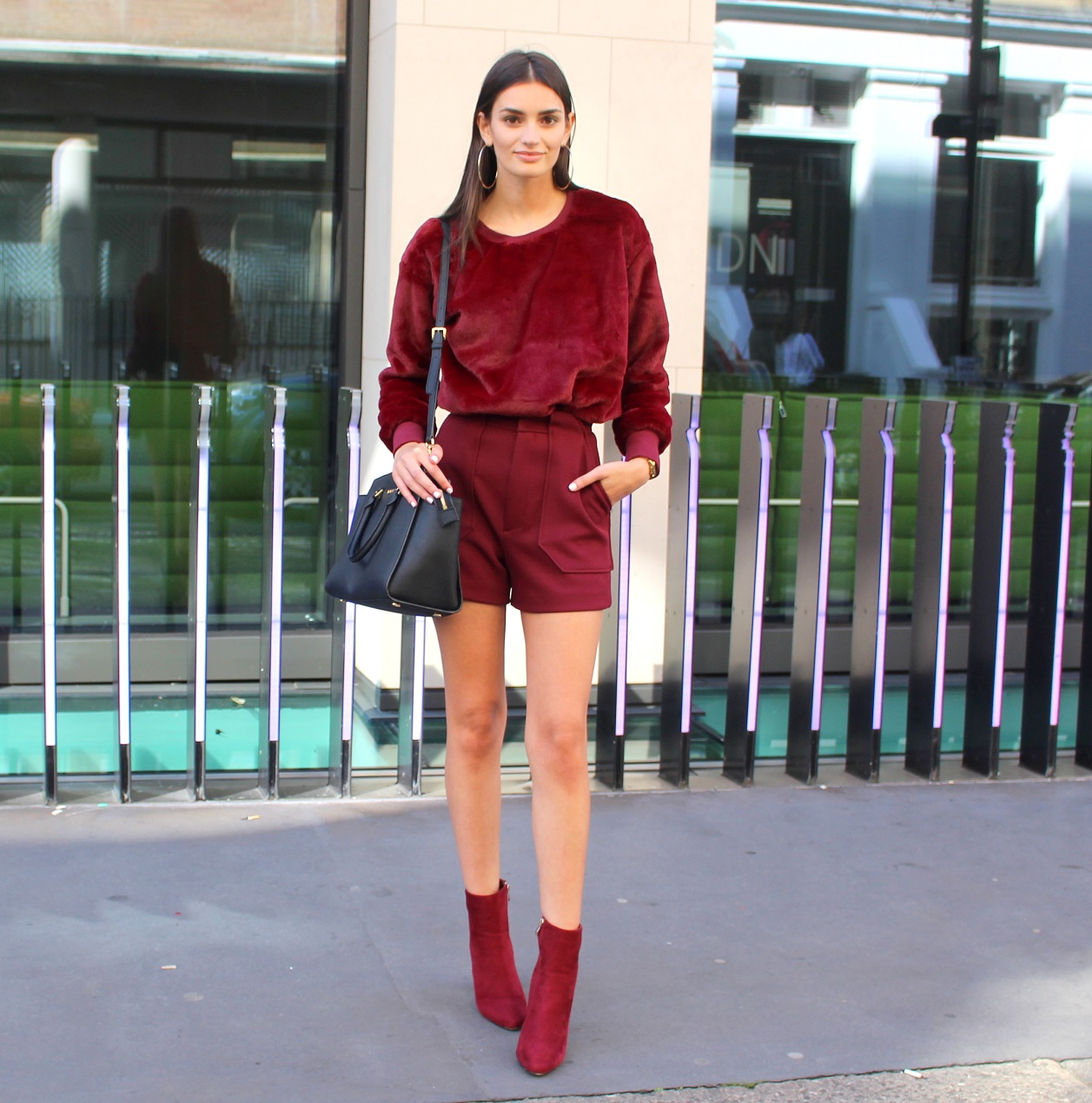 peexo fashion blogger wearing burgundy ss16 lfw