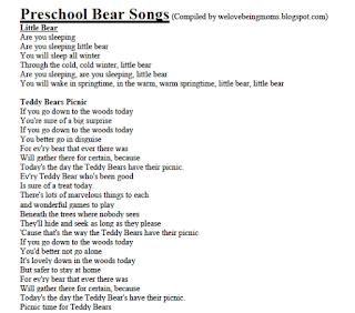 http://welovebeingmoms.blogspot.com/2012/09/preschool-bear-songs.html