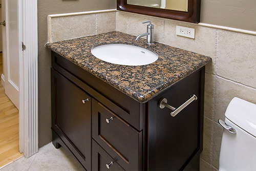 capuccino finish elegant bathroom sink cabinet design