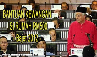 Borang Bantuan Kewangan Isi Rumah RM500 Bajet 2012