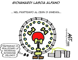 Govanardi, NCD, Alfano, scissione, vignetta satira