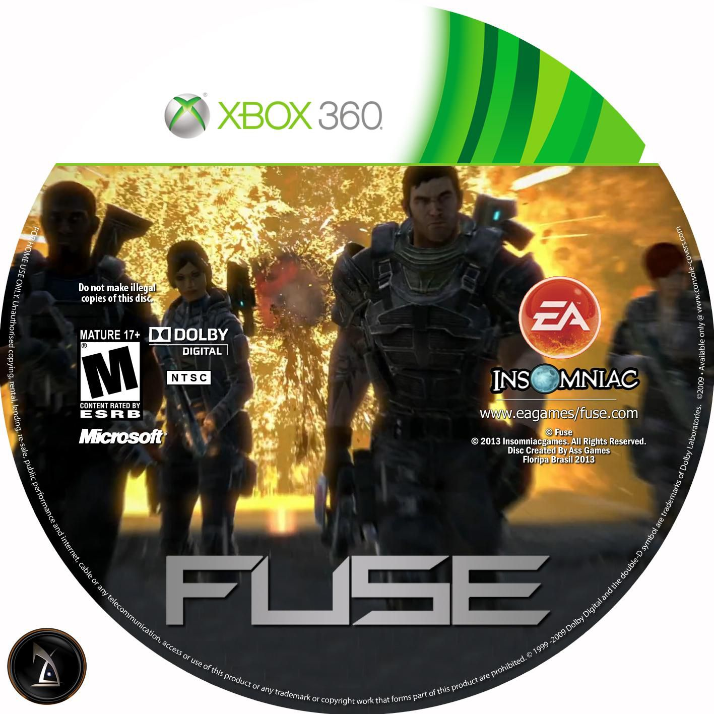Fuse Xbox 360 Intel : Label fuse xbox gamecover capas customizadas para