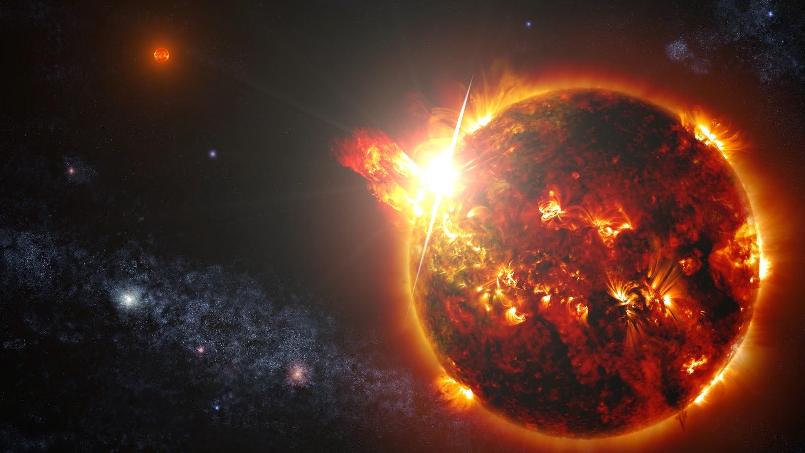 Mega-έκλαμψη σε γειτονικό άστρο