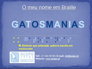 Dia Mundial do Braille - 4 de janeiro