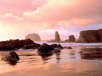 Sunset In State Par Bandon, Oregon Wallpaper