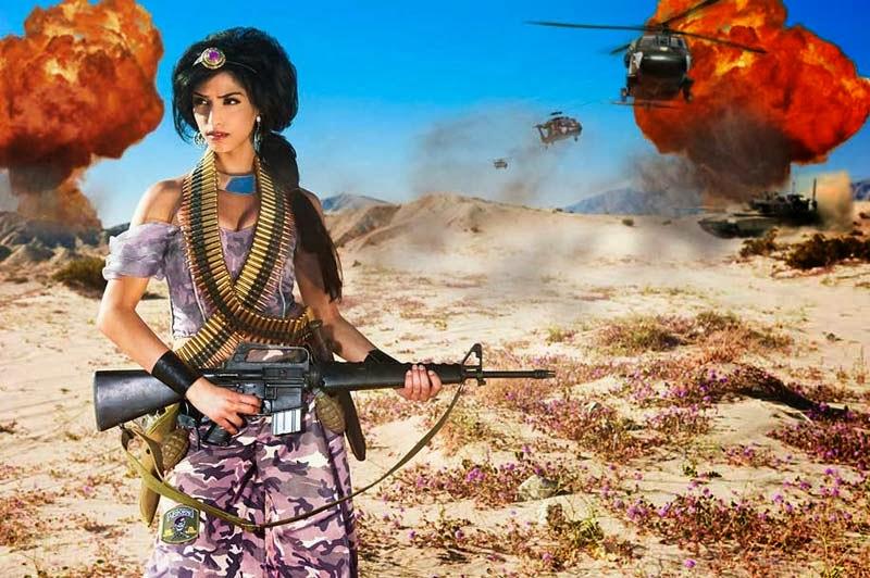Dina Goldstein, Fallen Princesses, Jasmine, Aladdin, Jazmín, Aladino