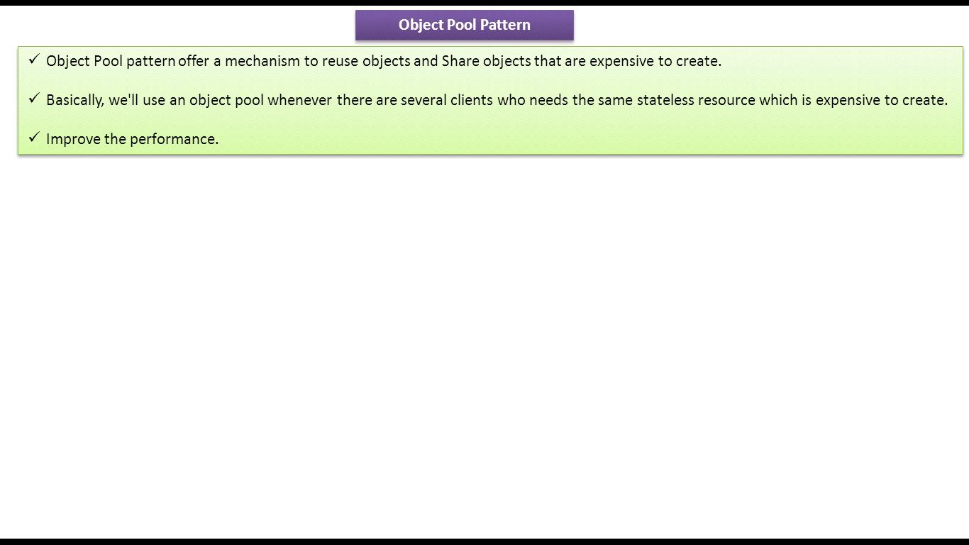 Java ee object pool design pattern for Pool design pattern java