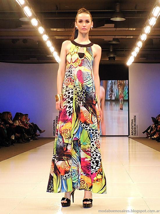 Adriana Costantini primavera verano 2015. Moda vestidos largos primavera verano 2015.