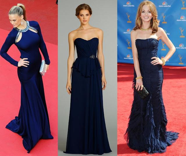 vestido para madrinha azul