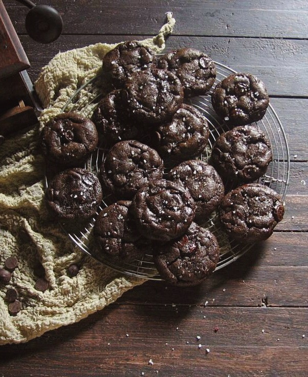 orange + dark chocolate olive oil cookies | une gamine dans la cuisine