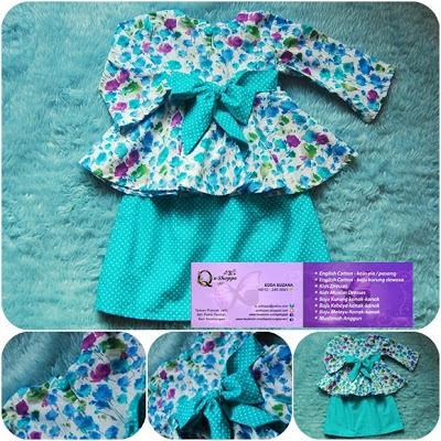 Shoppe: Baju Kurung Peplum Kanak-kanak   Turquoise