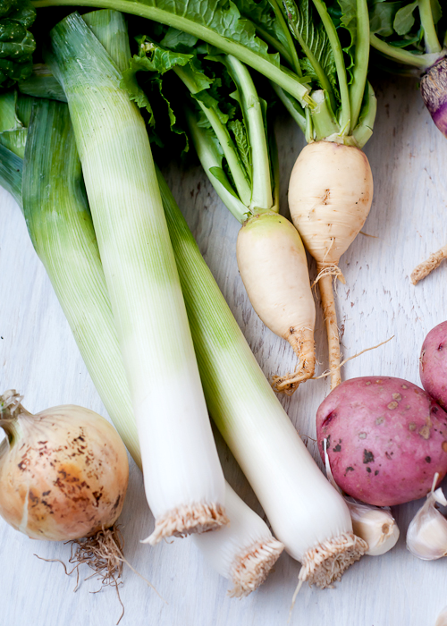 Leek and Root Vegetable Gratin | Cafe Johnsonia