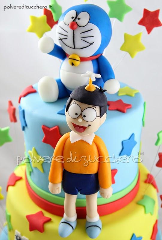 torta cupcakes doraemon cake compleanno polvere di zucchero