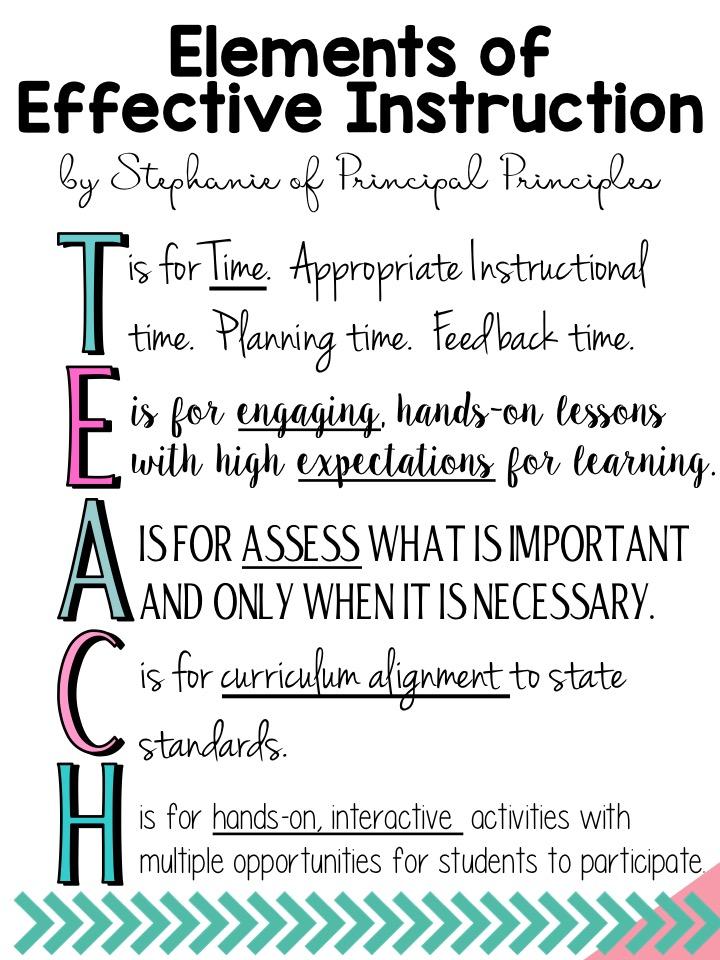 Elements Of Effective Instruction Principal Principles