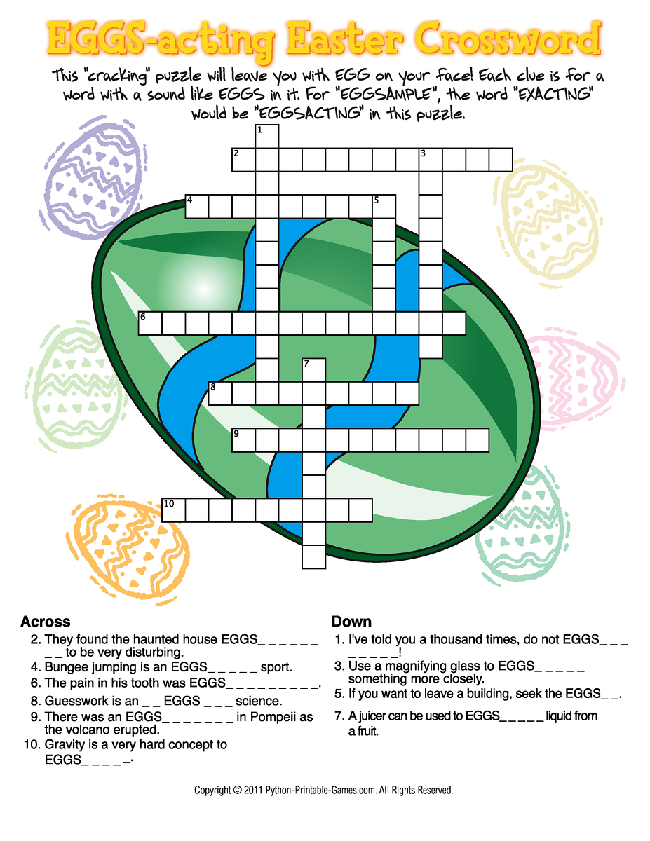 Candid image in easter puzzles printable