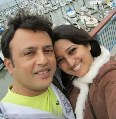 Bangla Movie Actor Riaz with his wife Tina