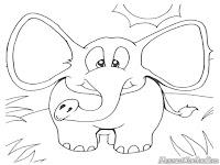 Mewarnai Gambar Anak Gajah
