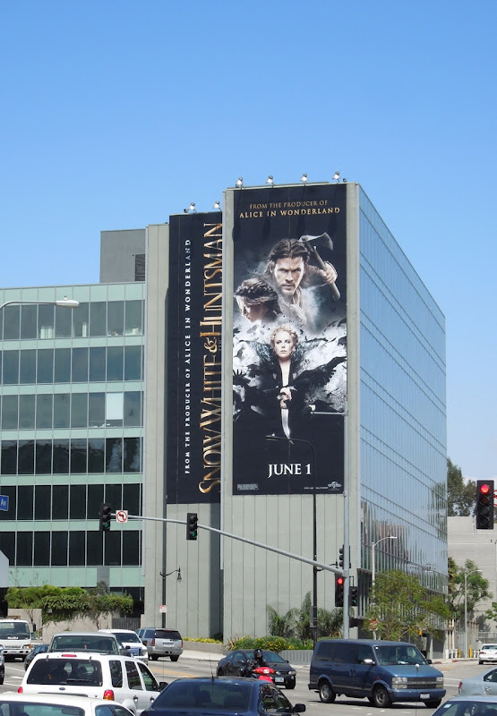 Giant Snow White Huntsman movie billboard