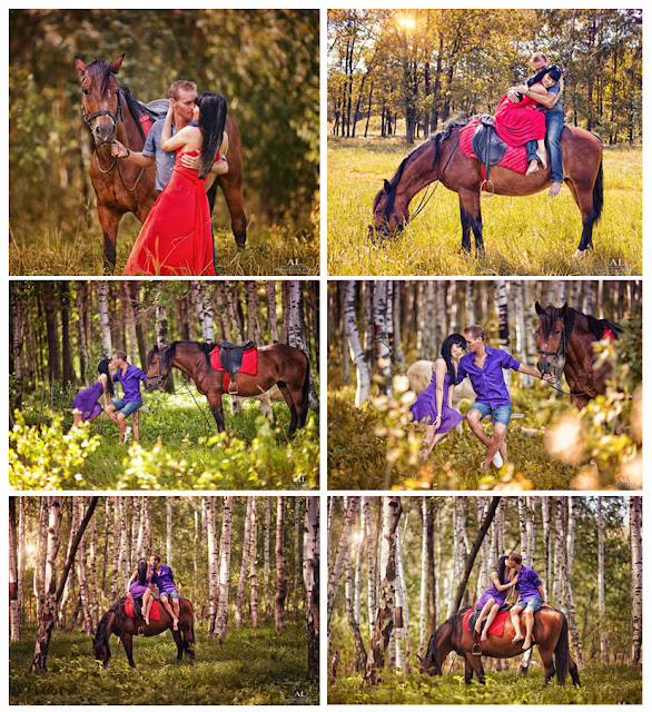 фотосессия лав стори на ранчо с лошадьми