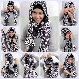 tips memakai jilbab modern