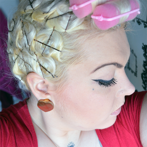 Vintage style hair tutorial 1 my pin curl setting pattern this is what i have when i take my scarf off in the morning you can see better here how many rows i use and how i cross the pins over and urmus Gallery