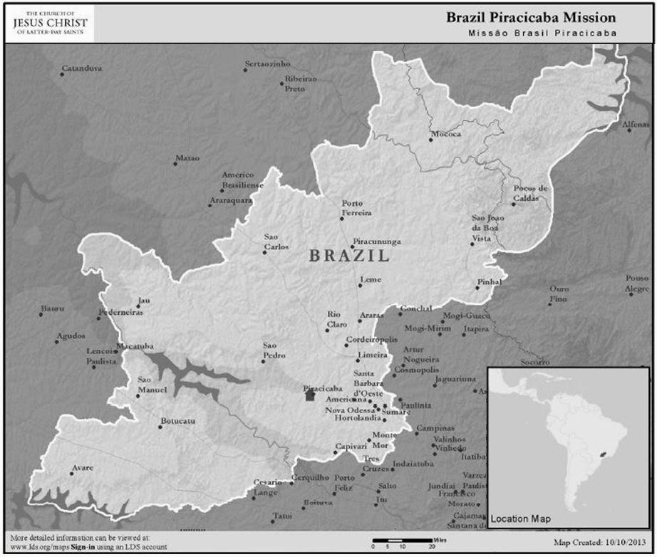 Missão Brasil Piracicaba Map