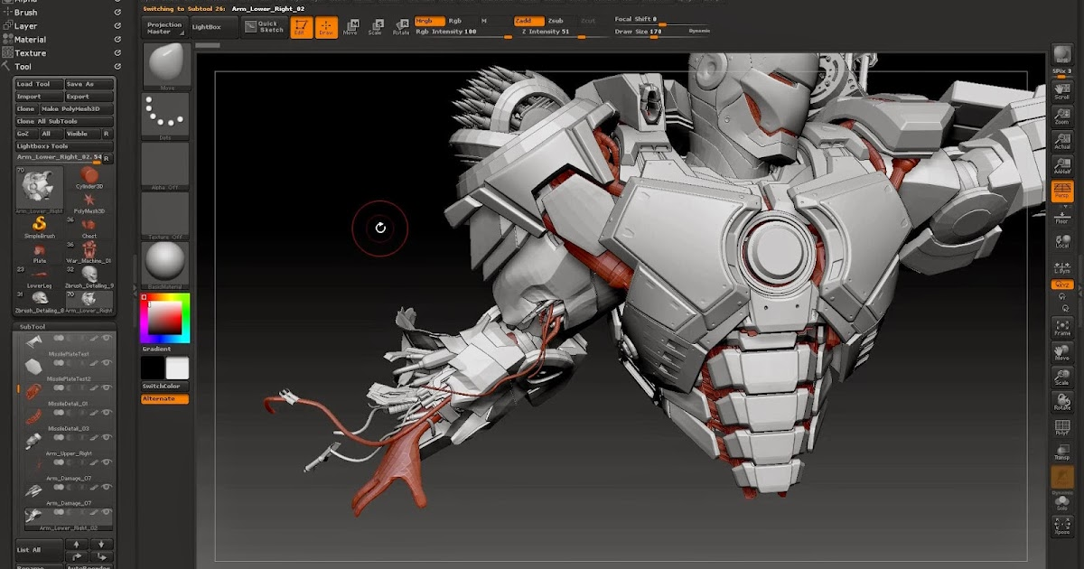 Character Design Zbrush Tutorial : Making of war machine cg tutorials library