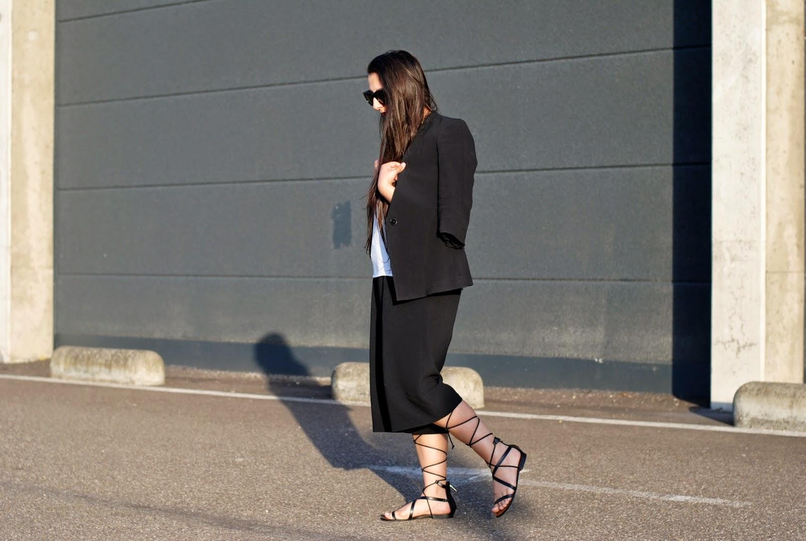 Black Lace up Sandals Mango And Lace up Sandals