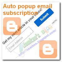 Hộp đăng ký qua email dạng Popup xổ dọc cho blogger/blogspot