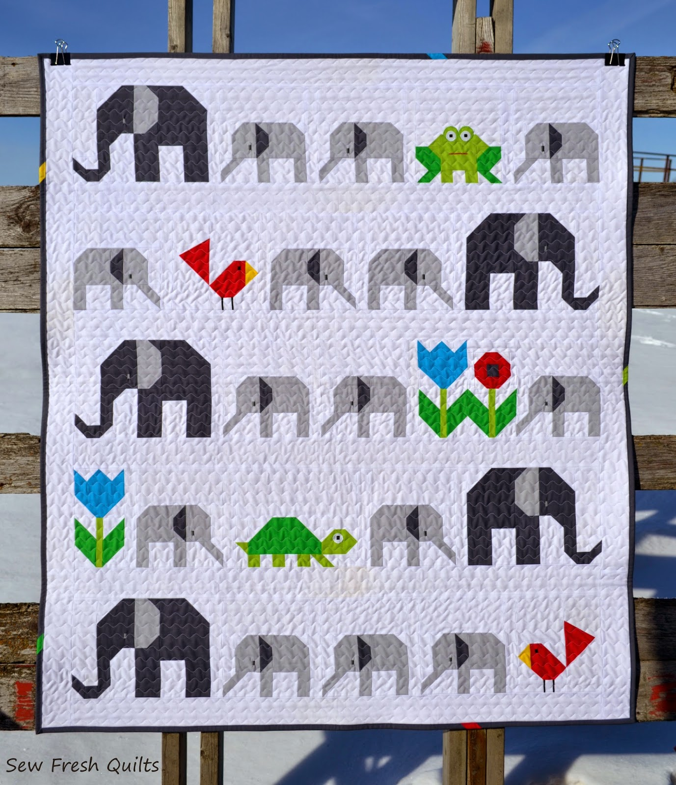 http://sewfreshquilts.blogspot.ca/2015/01/elephant-parade.html