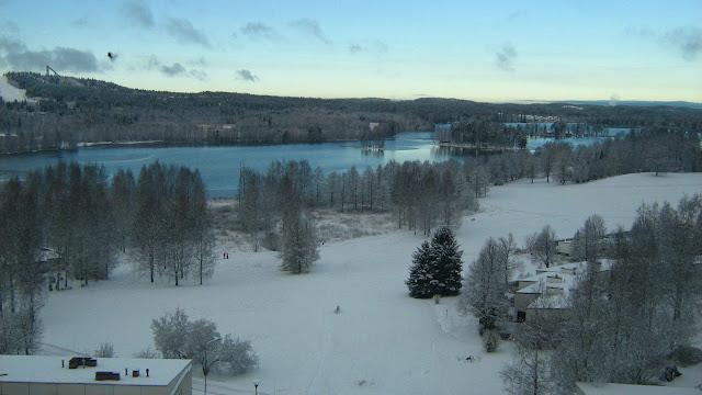 tuomiojärvi talvella