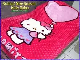 Jual Selimut New Seasons Blanket hello kitty balon