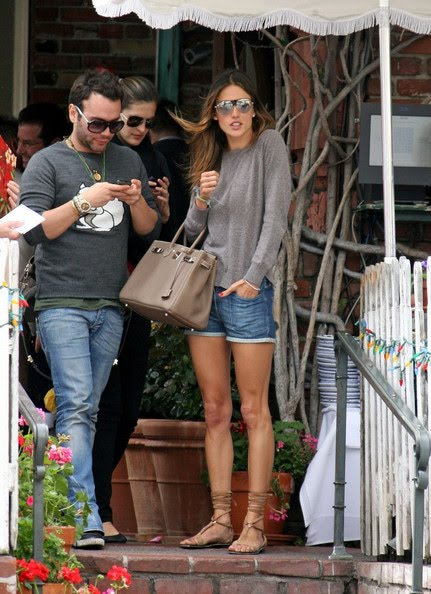 best replica hermes evelyne bag - BIRKIN WATCHER: Alessandra Ambrosio