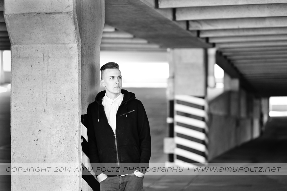 a senior photo session in downtown Terre Haute